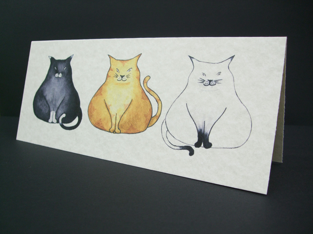 Three Fat Cats Card