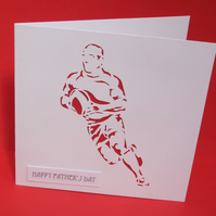 Father's Day Rugby Card Fathers Day Card