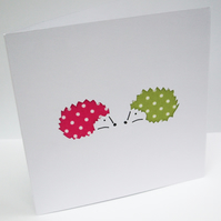 Hedgehog Card - Hand cut Hedghogs