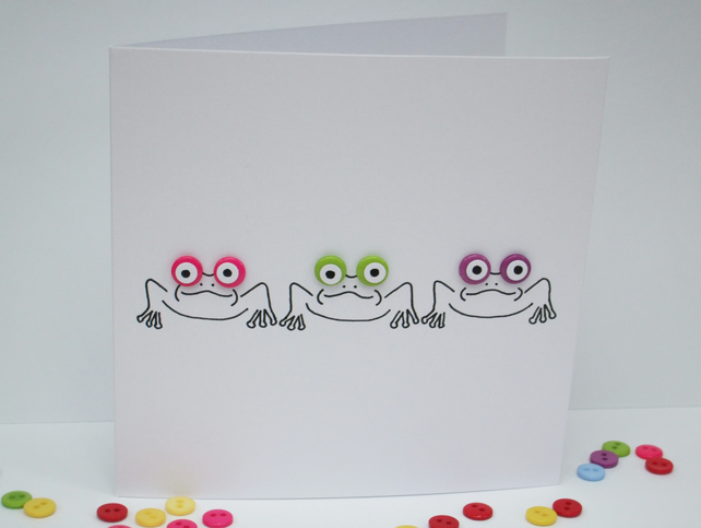 3 Little Frogs Card
