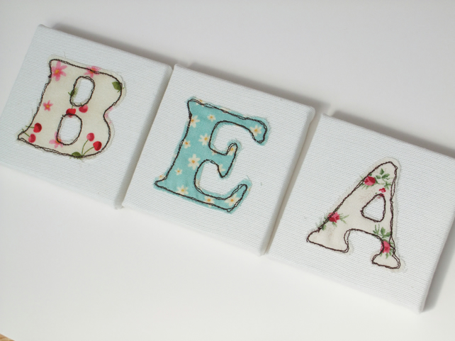 Large Canvas Letters 20x20cm - Child's Name Letters - Nursery Decor