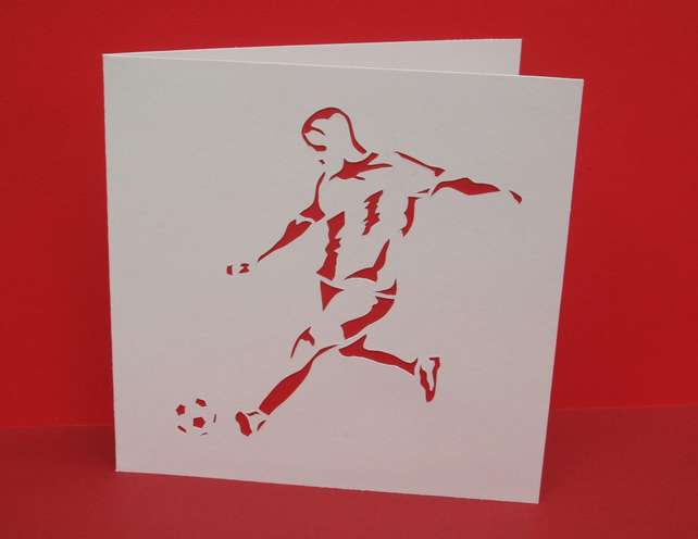 Football Card - Paper Cut Card for Dad's Birthday, Father's Day etc...