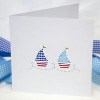 2 Little Sailing Boats Card