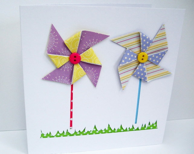 Paper Windmill Card
