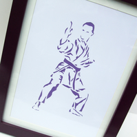 Paper cut Art - Karate Picture, Sport, Artwork, Hand cut art - silhouette