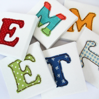 Childrens Name Letters - White - Mini Canvas Nursery Decor - door letters - door