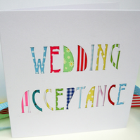 Wedding Acceptance Card - Wedding Reply Card