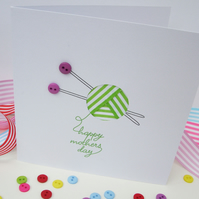 Mother's Day Knitting Card - Mothers Day Card - Mother