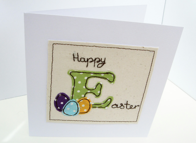 Easter Card - Embroidered