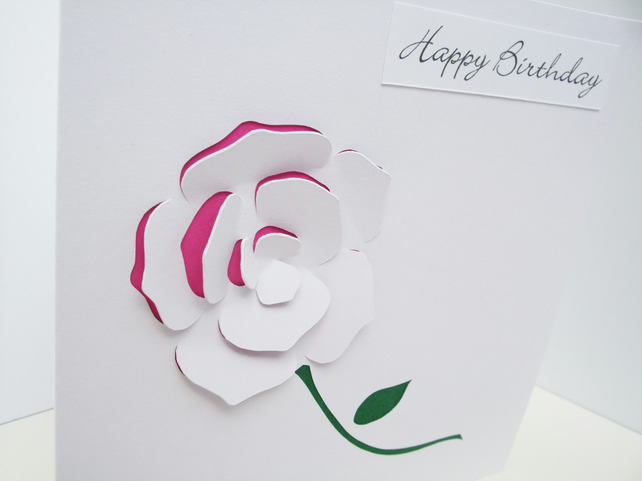 Birthday Card - Rose