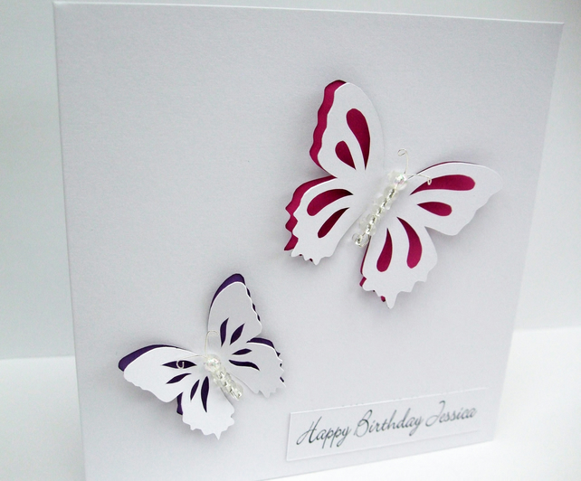 Birthday card - Butterfly Birthday Card - Nikelcards