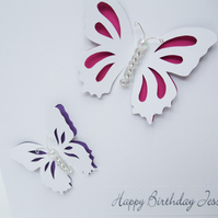 Personalised Birthday card - Butterfly Birthday Card