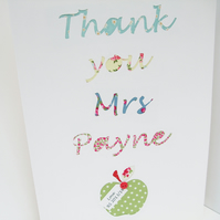 Large Teacher's Thank You Card