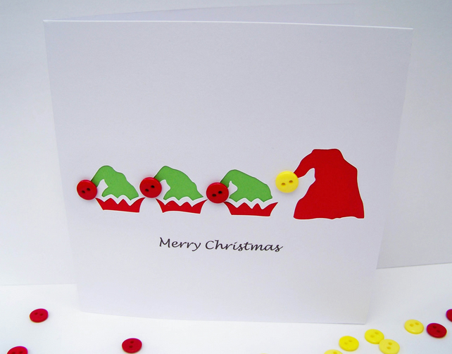 Christmas Card - Santa and his elves