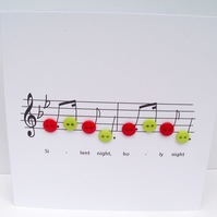Silent Night - Christmas Carol Music Card