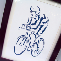 Paper Cut Art - Cyclist - Cycling - Bike - Bicycle