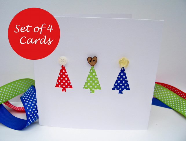 Pack of 4 Christmas cards - Christmas Card Set