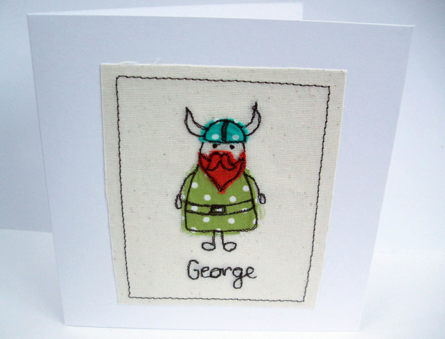 Personalised Viking Card - Birthday Card
