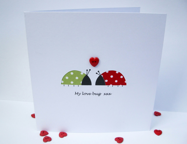 Valentine's Day Card - Love Bugs