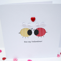 Valentine's Day Card - Bee my Valentine!