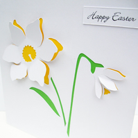 Easter Card - Paper Cut Daffodil
