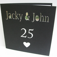 Personalised Wedding Anniversary Card - Golden Wedding, Silver Wedding