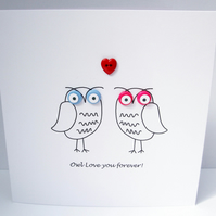 Owl Love You Forever - Anniversary or Valentine's Day Card