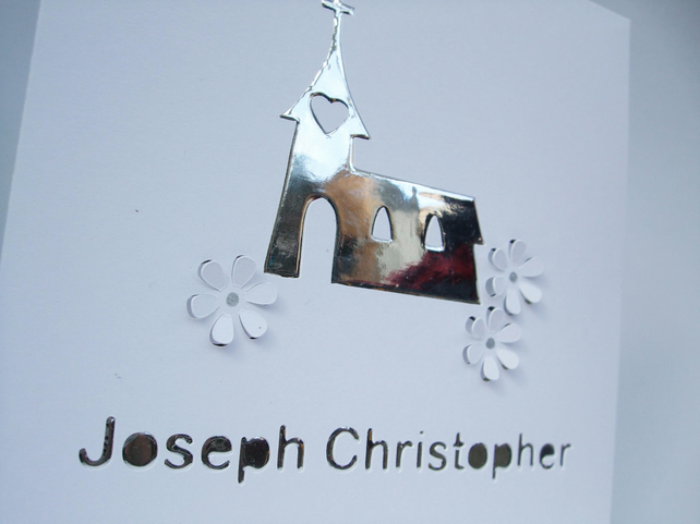 Personalised Christening Card - Baptism Card