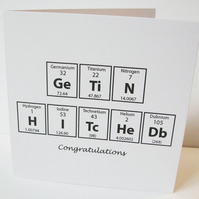 Engagement or Wedding Card for Scientists