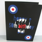 Large Personalised Mod Birthday Card - 1960's - Paper Cut -  Greeting Card