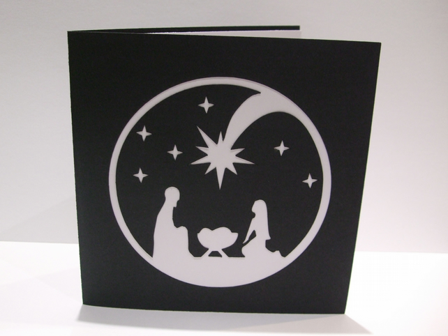Christmas Card - Religious - Nativity Scene