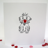 Dog Valentine's Day Card