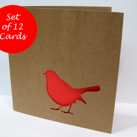 Set of 12 Robin Christmas Cards