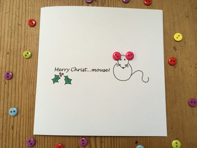 Christmas Card - Merry Christ...mouse!