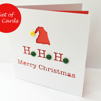 Set of 12 Christmas Cards - Christmas Card Pack - Santa