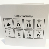 Birthday Card for a Brother-in-Law - Card for a Chemist Scientist