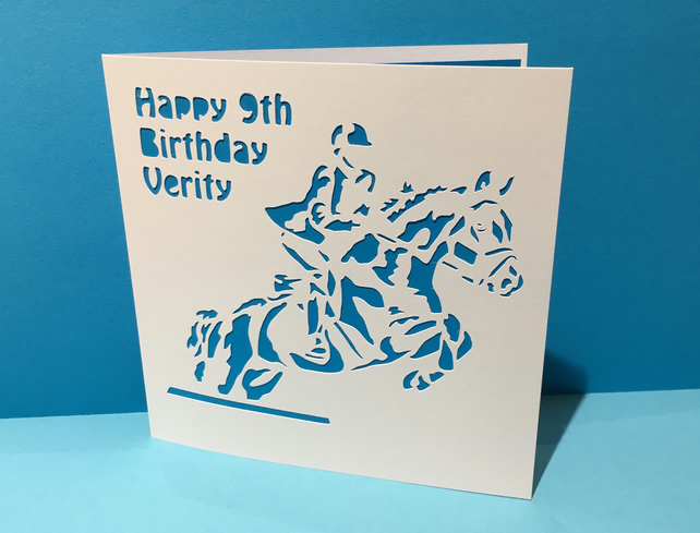 Horse Riding Card - Horse Birthday Card - Pony Card