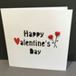 Valentine's Day Card - paper cut - buttons