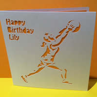 Netball Card - Personalised Birthday Card - or other occasions