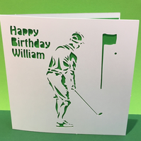 Golf Card - Birthday Card for a golfer - Father's Day Card