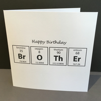 Birthday Card for a Brother - Card for a Chemist Scientist