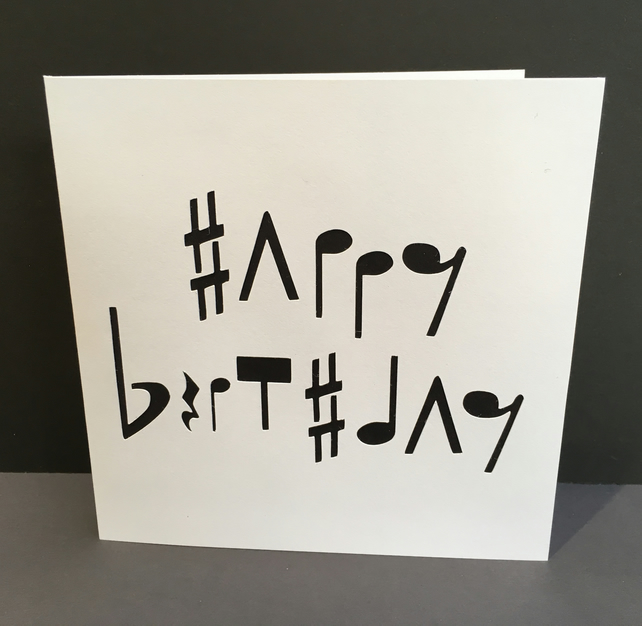 Music Birthday Card