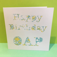 65th Birthday Card - Happy Birthday OAP - Funny Card for a Special Birthday