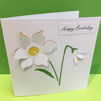 Daffodil Birthday Card