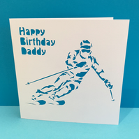 Ski Greeting Card - Skiing - Skier - Birthday Card -Greeting Card - Personalised