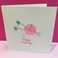 Birthday Knitting - Birthday Card for a Knitter