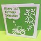 Tractor Birthday Card - Personalised