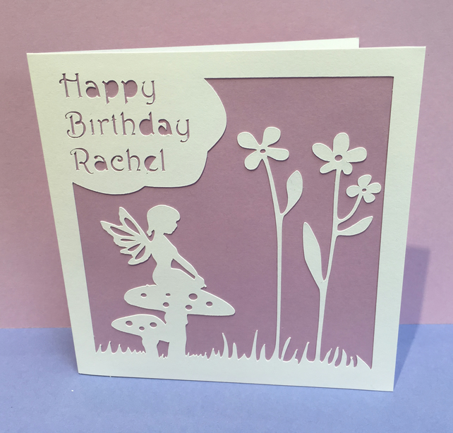 Fairy Birthday Card - Personalised