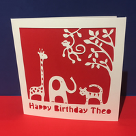 Animal Birthday Card for a child