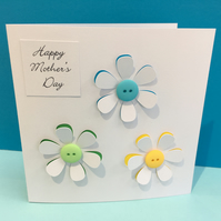 Mother's Day Card, Mothers Day Card - Flowers
